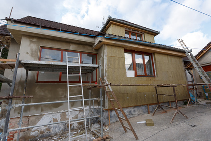 Construction or repair of the rural house, fixing facade, insulation and using color for new look