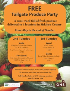 Tailgate produce party
