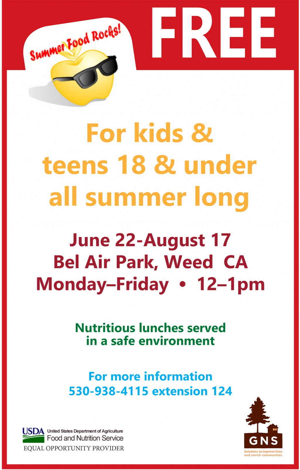Lunchtime Food Service Program