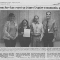 Great Northern Services receives Mercy/Dignity community grant funding