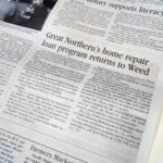 Photo of the article appearing in the newspaper